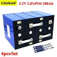 4 sztuk Liitokala 3.2V 280Ah lifepo4 baterii DIY 12V 280AH akumulator do elektrycznego samochodu RV System magazynowania energii słonecznej
