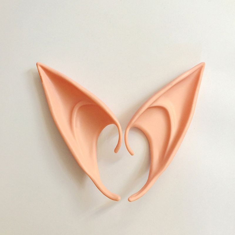 1 Pair Halloween Party Elven Elf Ears Anime Fairy Cospaly Costumes Vampire Latex LX9E