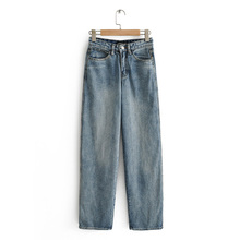 Jeans Loose Straight Pants Womens Retro Autumn Spring Full Length Slim Vintage Casual Washed Cowboy