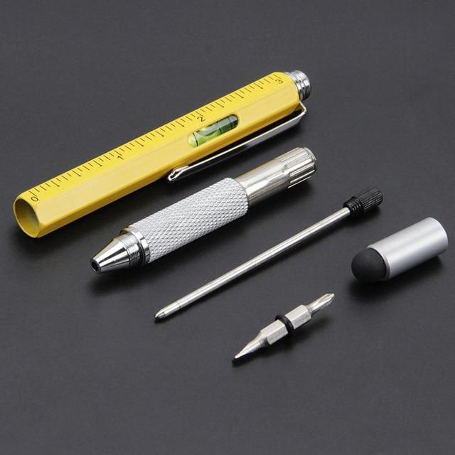 Creative multi-function metal ball-point pen hexagon pen liuhe a scale 3