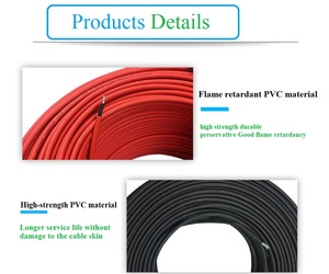 Image 5 - 1 Pair 4mm 2.5squar Solar Panel Photovoltaic Cable Copper Wire Black and Red with Waterproof Connector Solar PV Cable 6/4/2.5 mm