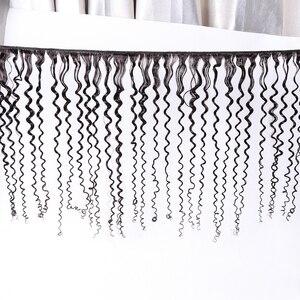 Image 3 - Fasci ricci crespi estensioni malesi dei capelli umani colore naturale tessuto dei capelli ricci di gerusalemme elle spedizione gratuita