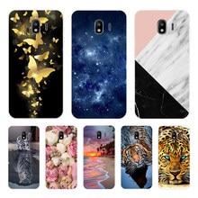 Para samsung galaxy j4 2018 caso magro silicone para samsung galaxy j4 j400 telefone pára-choques para galaxy j4 j400f caso habitação funda
