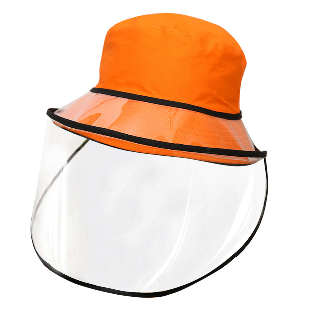 Unisex Anti-spitting Protective Hat Multi-function Protective Cap Summer Hat Dustproof Cover Fishermen Removable Cap #C