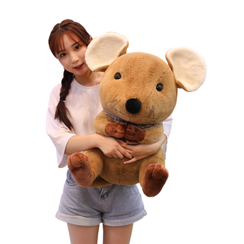 shopify service New cute mouse pillow plush toy cute expression mouse doll child birthday gift Christmas gift free shipping недорого