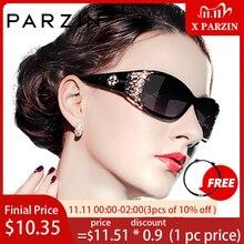 PARZIN יוקרה מותג בציר נשים משקפי שמש מקוטב משקפיים שמש נשים נשים הולו תחרה נשי משקפיים לנהיגה
