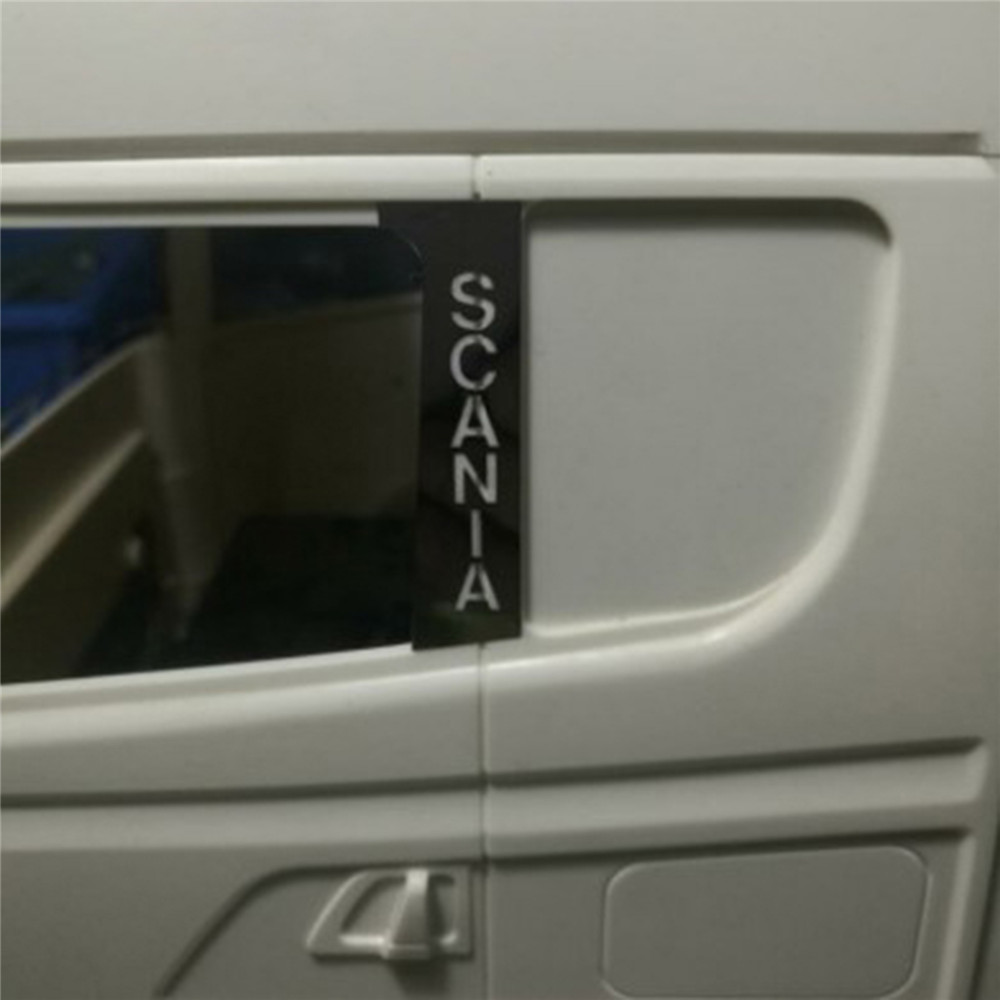 Metal Side Window Stickers für TAMIYA 1//14 SCANIA R620 R470 56323 RC Tractor Neu