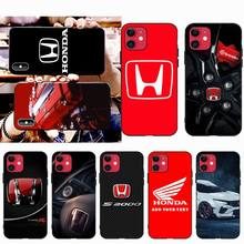 NBDRUICAI Car brand Honda DIY Painted Bling Phone Case for iPhone 11 pro XS MAX 8 7 6 6S Plus X 5S SE XR case nbdruicai japanese fashion brand diy painted bling phone case for iphone 11 pro xs max 8 7 6 6s plus x 5s se 2020 xr case