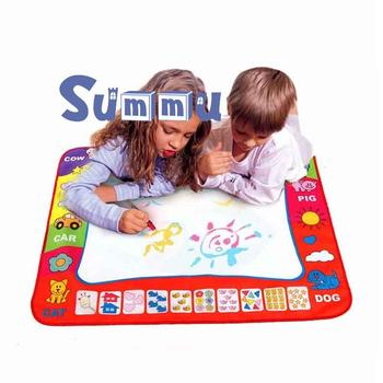 Drawing Mat Coloring Doodle Carpet with 4  Gift for Kid Big Size Magic Pens Stamps Painting  Magic Water Drawing Board Toys kid water drawing mat doodle board