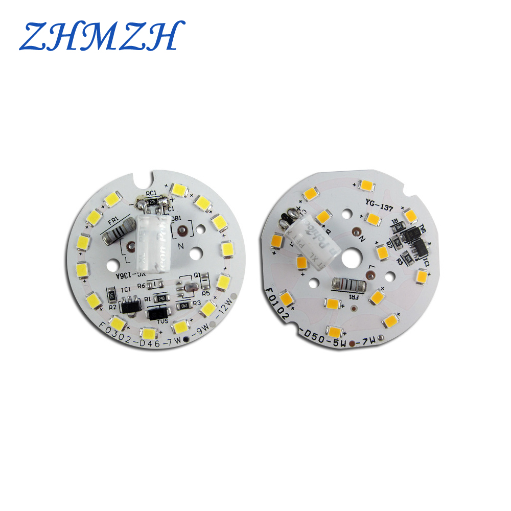 AC220V SMD2835 <font><b>LED</b></font> Chip 3W 5W 7W 9W 12W 15W <font><b>18W</b></font> 24W Free Driver SMD <font><b>2835</b></font> Light Beads 80RA Non-flickering Lighting for <font><b>LED</b></font> Bulbs image