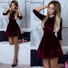 New Dresses Woman Party Night Fashion Casual Seven-point Sleeve Dress Female O-neck Women Clothes Solid Color Boho Dress Women цены