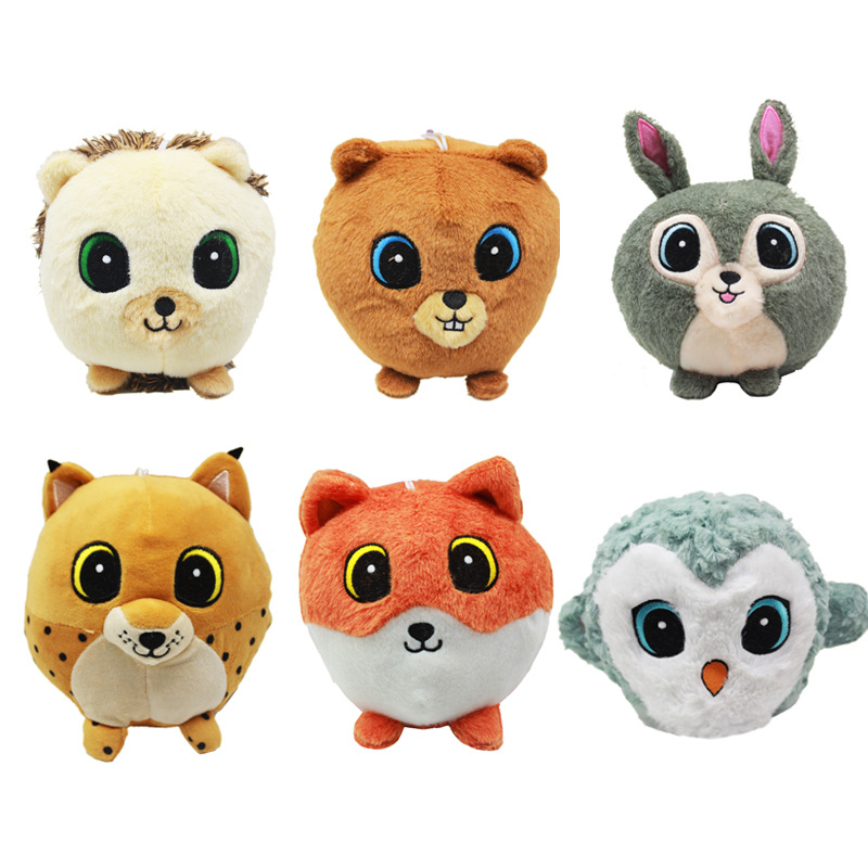 AliExpress Poland with Numbers Game Bear Hedgehog Leopard Bear Plush Leopard Fox Owl round Animal Toy