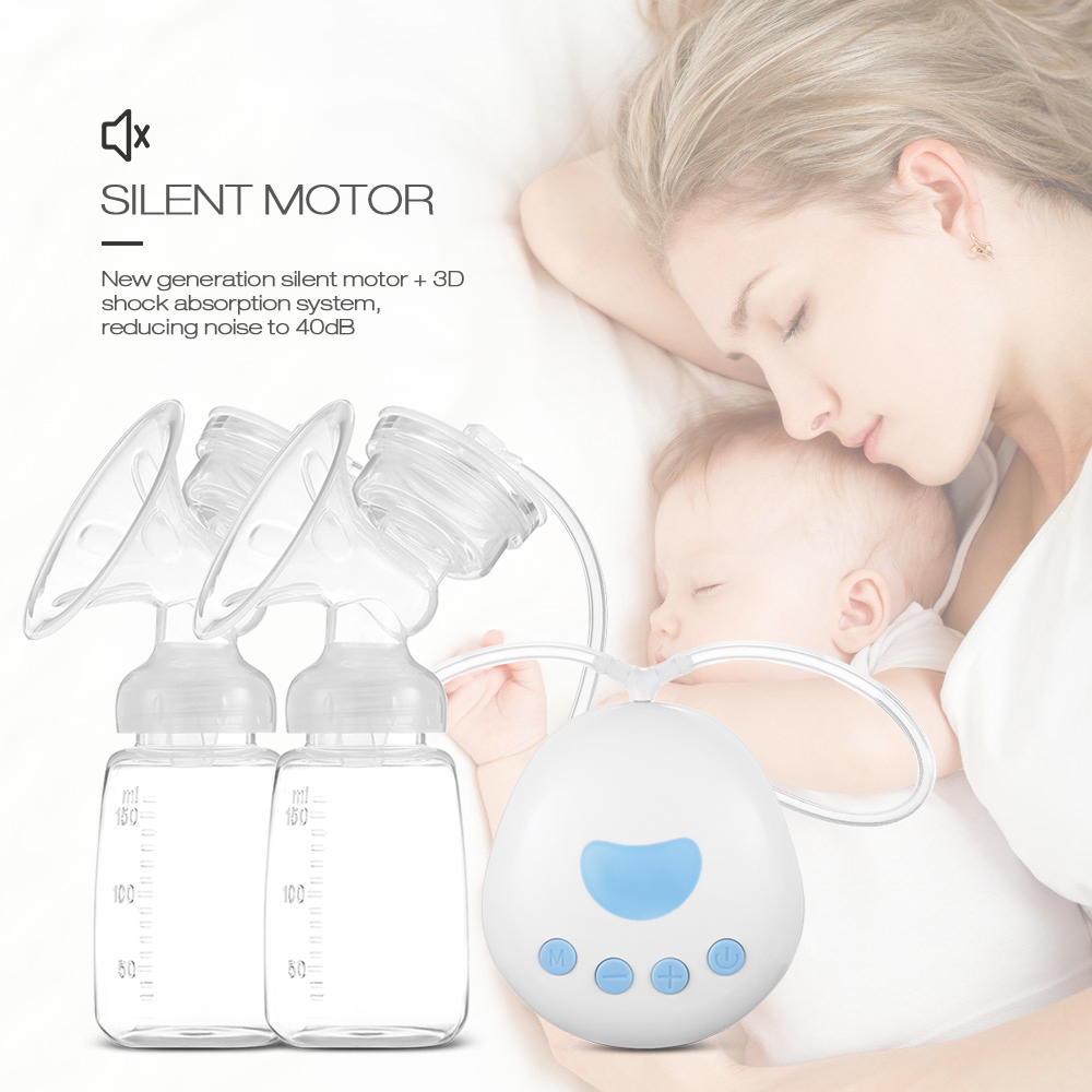 150ML RealBubee Infant Baby Electric Breast Pump Massage Bilateral Postpartum Milking Lactator Heat-resistant 220V Breast Pumps