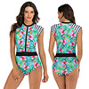Zippered Front Sports One Piece Swimsuit 27