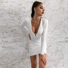 Женское Бандажное платье ocstrade Белое Облегающее Платье с