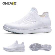 ONEMIX Men Running Shoes Women White Wal