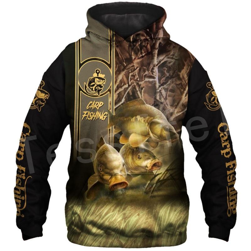 Tessffel NewFashion Animal Deep Bass Fishing Harajuku Casual Pullover Funny Unisex 3DPrint Zipper/Hoodies/Sweatshirts/Jacket S11