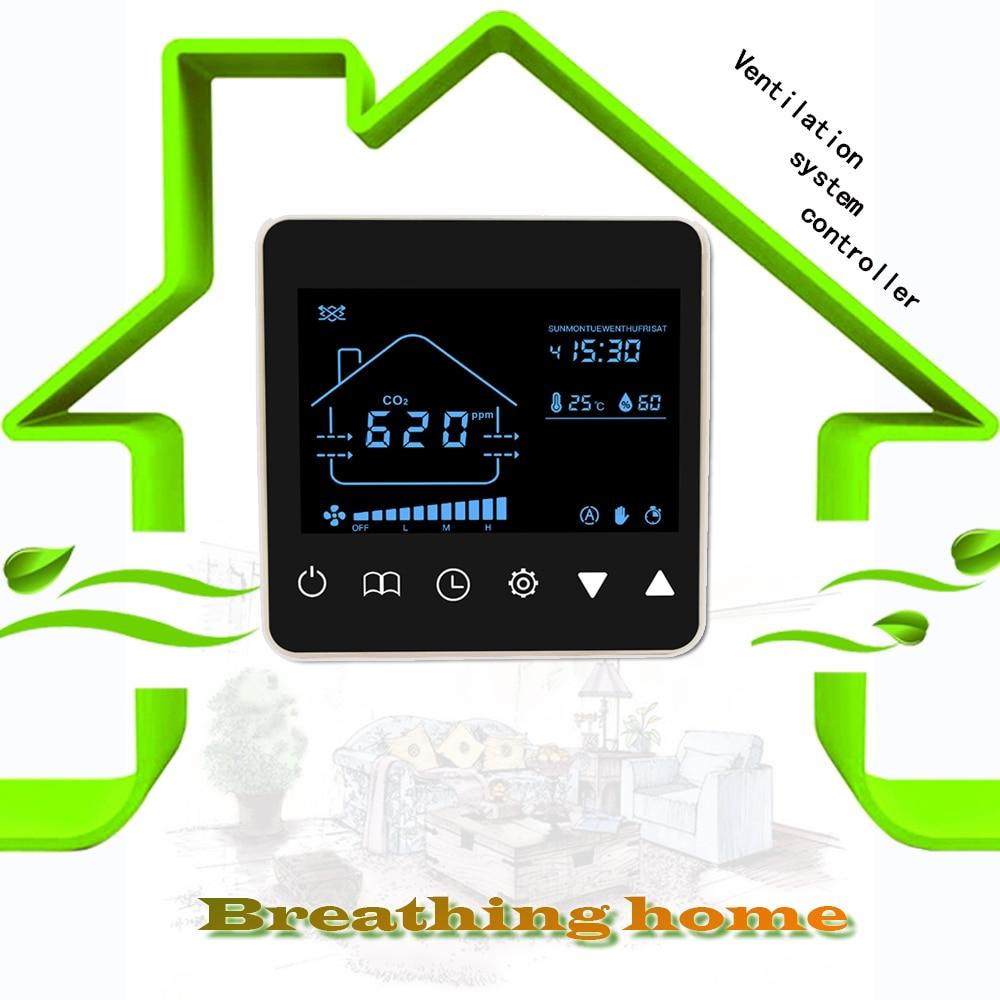 Kohlendioxid control für NDIR smart co2 gas regler mit temperatur und feuchtigkeit erkennung