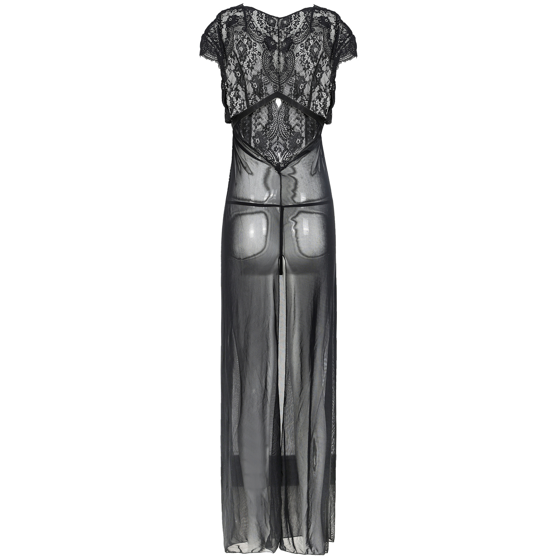 Volwassen sexy Belang pyjama Lingerie voor dames Sexy see through jurk - 2