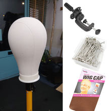 21-24inch Wig Head for Styling Making Displaying Wig Stand Mannequin Head Canvas Wig Stand With Head Wig Holder Supports