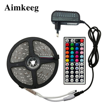 цена на SMD 5050 SMD 2835 RGB LED Strip Light Waterproof Flexible Diode Ribbon Tape 5M 10M 15M Led Strip 12v with Remote Control
