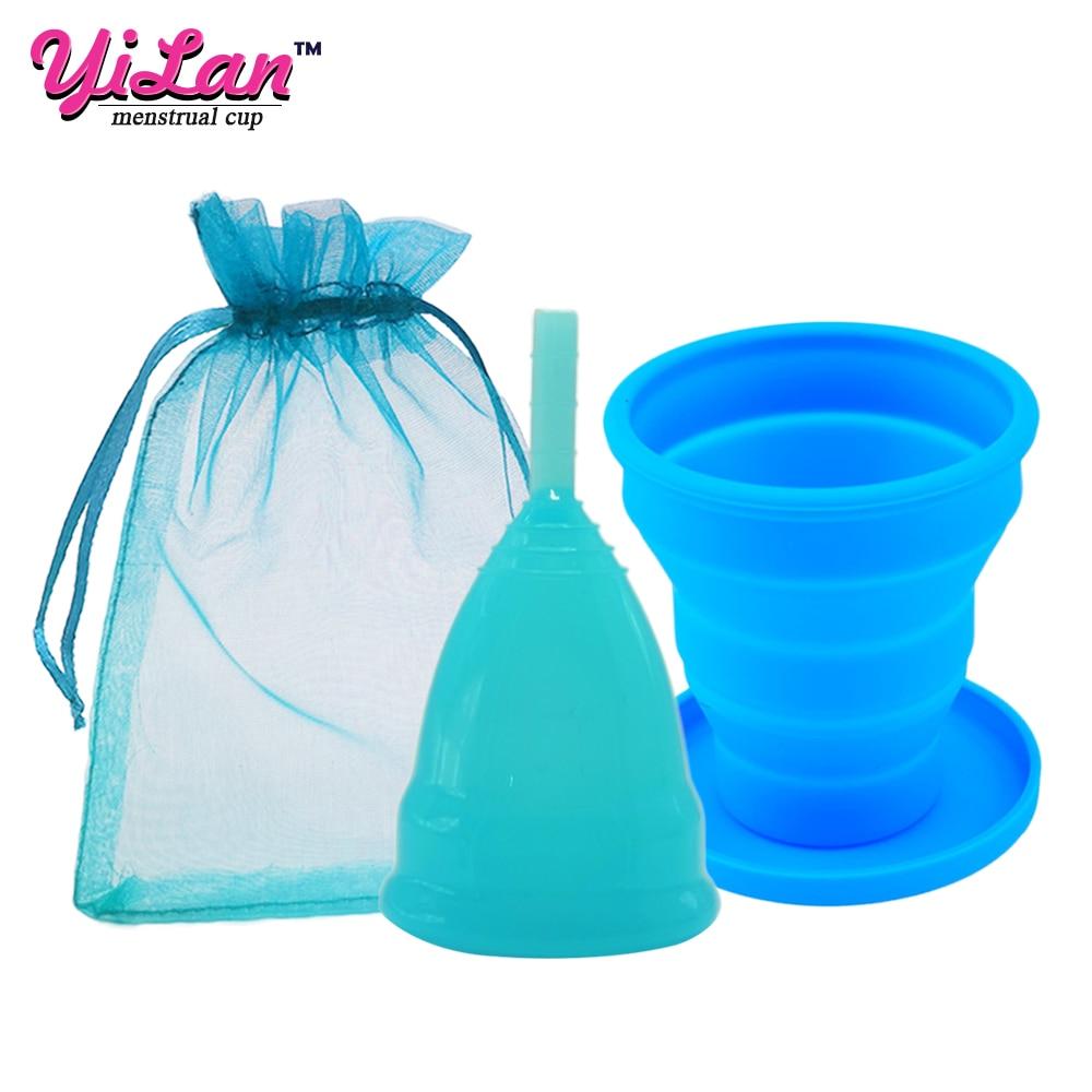 Medical Grade Silicone Menstrual Cup Sterilizer Foldable Sterilizing Silicone Cup For Women Period Cup Menstrual Collector
