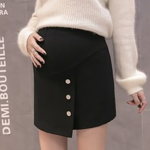 Autumn Fashion Maternity Skirts Winter Korean High Waist Belly Skirts for Pregnant Women Office Ladies Pregnancy Wear skirt