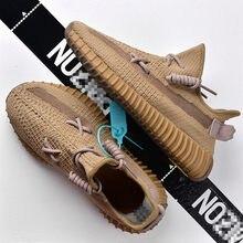 2021 sapatos masculinos tênis casuais 350 v2 leve conforto malha andando runnining sapatos masculinos botas tamanho grande 36-45