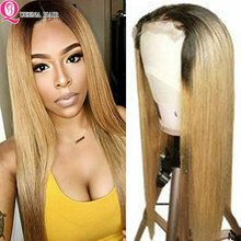4*4 Lace Closure Wig Ombre Lace Front Human Hair Wigs 1B 99J Burgundy Straight Lace Wigs Remy Brazilian Glueless Lace Wig 180%(China)