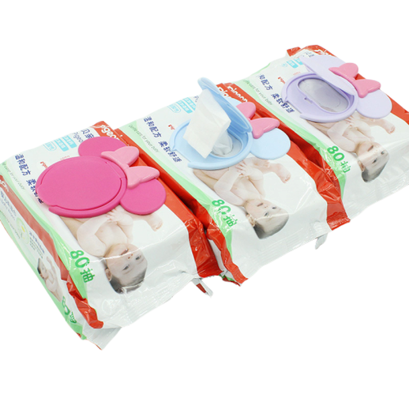 Baby Toys Wipes Lid Baby Wet Mobile Wipe Cover Portable Child Wet Tissues Cover Cartoon Paper Lid Useful Accessories Cartoon Hat