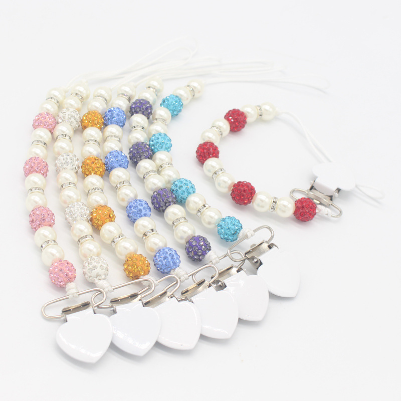 New Baby Anti-dropping Pacifier Chain Infant Baby Crystal Pacifier Clips Dummy Nipple Strap Pacifier Chain Baby Accessories