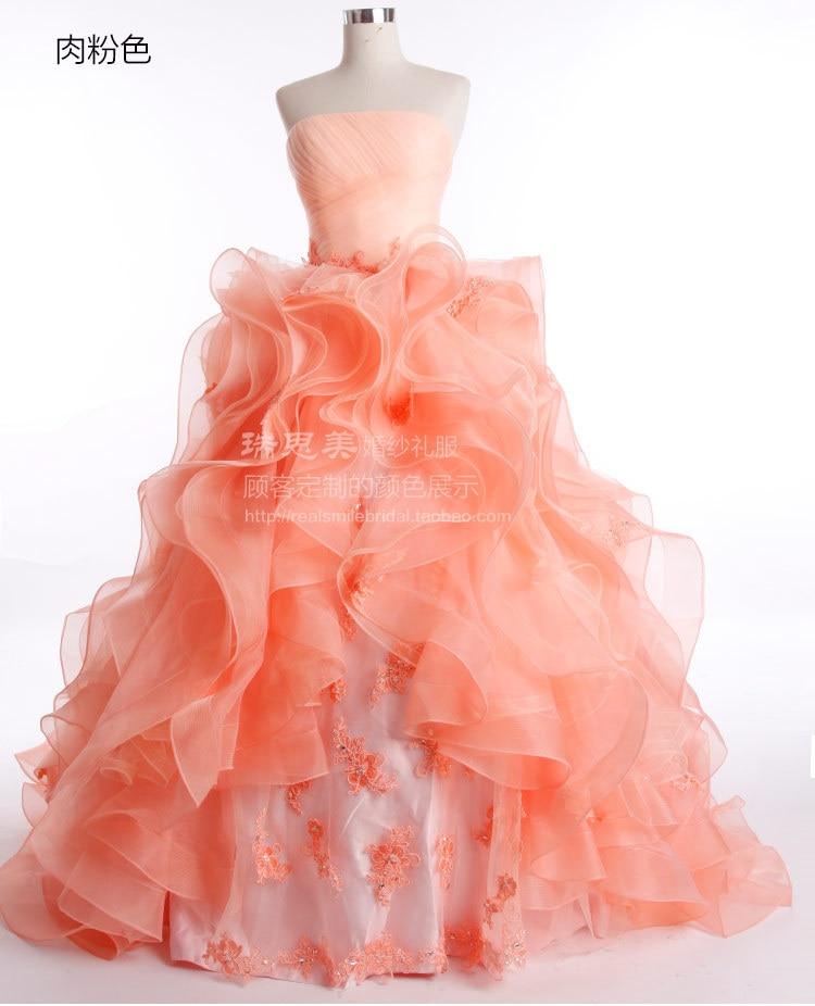 Free Shipping Actual Lmages Bridal Gown Vestido De Noiva Casamento 2016 New Fashion Ruffles Bandage Dress Long Wedding Dresses