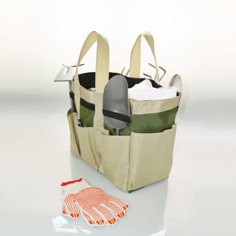 Multi-function Oxford Cloth Garden Tool Bag Toolkit Pouch Tote Organizer Carrier