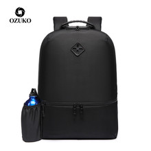 OZUKO New Causal Backpack Men 15.6 inch Laptop Backpacks Water-Repellent School Bags for Teenager Anti-theft Travel Male Mochila