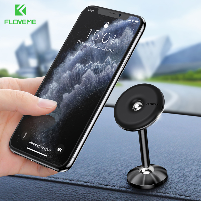 FLOVEME Car Phone Holder Magnetic Car Holder For Phone In Car Top Mount GPS Cellphone Mobile Support Holder Telefoonhouder Auto