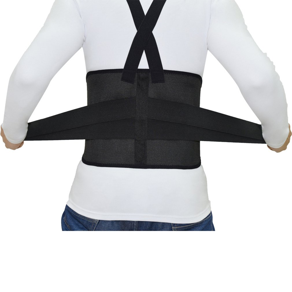 Work Back Brace Removable Suspender Straps For Heavy Lifting Safety Back Protection Belt For Construction Warehouse Jobs New
