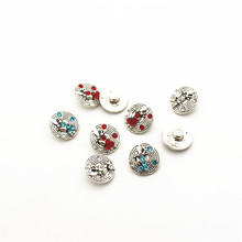 Wholesale 20pcs/lot owl metal crystal alloy button 12mm Snap Buttons Fit DIY Snap Bracelet Snap Button Charms jewelry hot selling 20pcs lot flower metal crystal alloy button 12mm snap buttons fit diy snap bracelet snap button charms jewelry