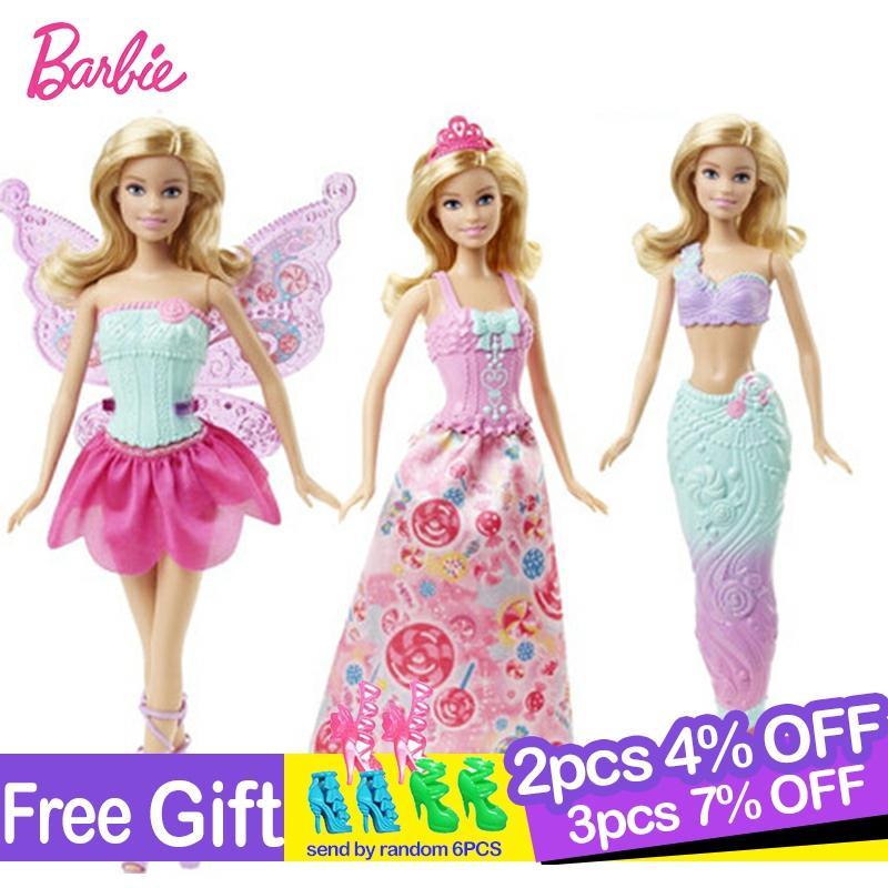 Barbie Original bébé 18 pouces poupée jouet princesse sirène habiller fête d'anniversaire présent enfants jouets pour filles cadeau Boneca Juguetes