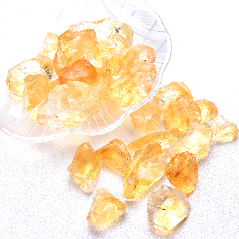 20/50g natural cru amarelo citrino quartzo cristal áspero pedra espécime cura cristal amor pedras naturais e minerais tanque de peixes