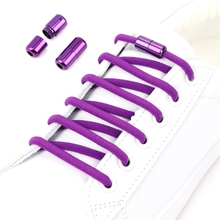 Shoelaces Elastic Sneakers Capsule-Lock No-Tie Kids for Adult Semicircle Aluminum