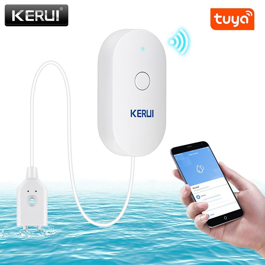 KERUI WiFi датчик воды Умный Дом Кухня Детектор утечки воды Tuya приложение мониторинг утечек телефон уведомления сигнализация безопасности