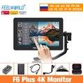 Feelworld камера монитор F6 Plus 5,5 дюймов 3D Lut сенсорный экран 4K HDMI IPS FHD 1920X1080 монитор для DSLR камеры