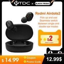 Xiaomi Słuchawki douszne Redmi Airdots 2, TWS, Bluetooth 5.0, bas, stereo, inteligentne sterowanie głosem, redukcja szumów