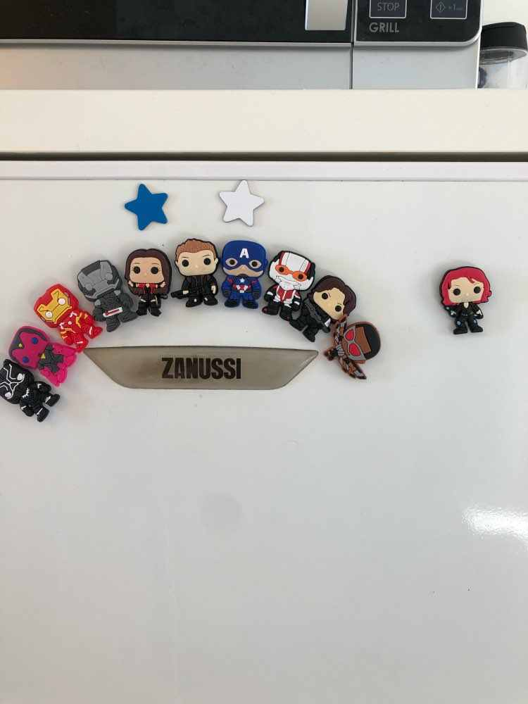 50 unids/lote Marvel los Vengadores superhéroes imanes PVC para el refrigerador pegatinas magnéticas hogar Decoración Para refrigerador imán niños fiesta regalo