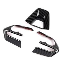 JEAZEA 3Pcs Carbon Fiber ABS Stuurhoes Frame Trim Decoratie Fit Voor Toyota RAV4 2019 2020 LHD Auto accessoires