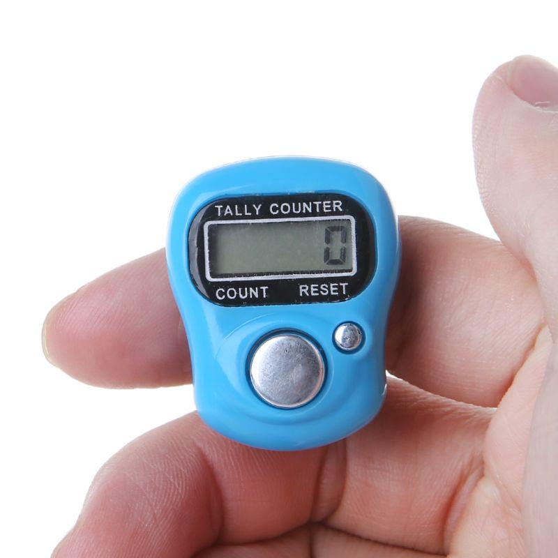 Мини мини стежка маркер и ряд Палец счетчик ЖК электронный цифровой счетчик для шитья Вязание инструмент для плетения палец случайный