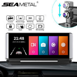 6.86 Inch Touch Screen Car DVR HD Dashboard Camera Video Recorder Parking Monitor Night Vision Dash Cam with Rear Camera