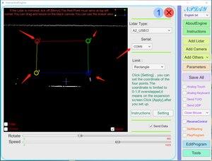 Image 2 - Eai ydlidar g4 lidar 멀티 터치 스크린 애니메이션 대형 스크린 대화 형 시스템 솔루션 대형 스크린 대화 형 시스템 스위트