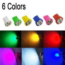 10Pcs T10 Led 194 168 1210 4 SMD 4 LED 슈퍼 밝은 LED 전구 화이트 독서 빛 자동차 문 빛 12V