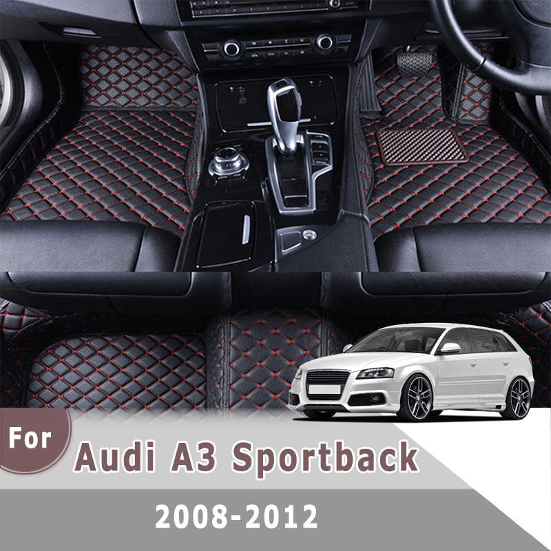 rhd carpets for audi a3 sportback 2012 2011 2010 2009 2008 car floor mats auto interiors leather rugs protective accessories